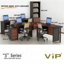 Vip S Series Office Desk With Drawer Set