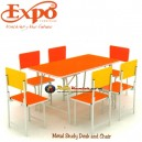 Expo Metal Study Desk And Chair 1